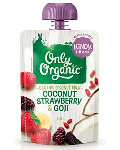 Only Organic: Coconut, Strawberry & Goji 100g (1-5 Years) - 10% OFF!!