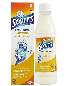 Scott's Emulsion Cod Liver Oil Extra (Original) 400ml - 31% OFF!!