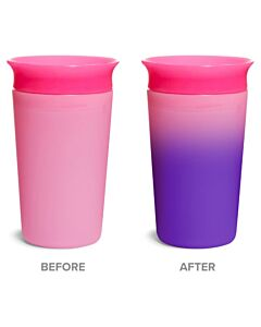 Munchkin: Miracle® 360° Color Changing Cup 9oz Pink (1 piece) - 20% OFF!!