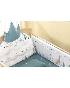 CHILUX Crown Cotton Cushions - Blue Grey Royal Cushion