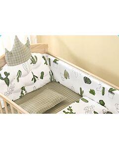 CHILUX Crown Cotton Cushions - Green Royal Cushion