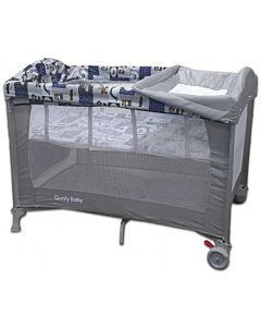 Comfy Baby Travel Cot - Premium Grey (FOC Memory Foam Mattress Topper) - 12% OFF!!