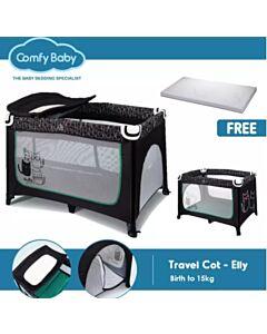 Comfy Baby Travel Cot - Elly (FOC Memory Foam Mattress Topper) - 15% OFF!!