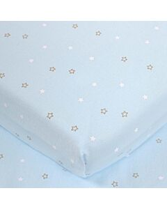 Comfy Living - Fitted Sheet (60 x 120 x 10cm) - Light Blue - 20% OFF!!