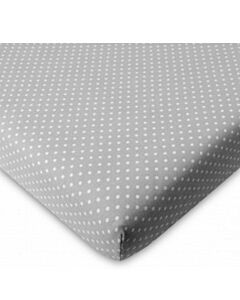 Comfy Living - Fitted Sheet (60 x 120 x 10cm) - Grey Dot - 20% OFF!!