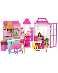 Barbie® Cook 'n Grill Restaurant   Doll & Playset with 30+ Pieces (3Y+) - 10% OFF!!