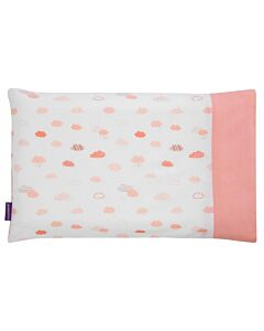 Clevamama ClevaFoam Baby Pillow Replacement Cover (41cm x 26cm) - Coral Clouds - 26% OFF!!