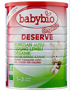 Babybio Deserve Formulated Cow's Milk for Children, 1 - 3 years (900g)