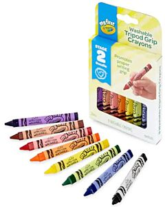 Crayola My First Washable Triangular Easy Grip Crayons - 8 pieces - 15% OFF!!