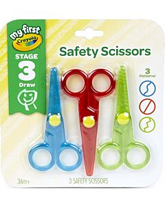 Crayola My First Safety Scissors - 3pcs - 15% OFF!!
