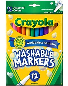 Crayola 12 Colour Fine Line Washable Markers - 20% OFF!!
