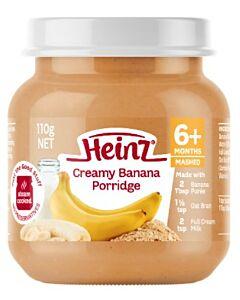 Heinz: Creamy Banana Porridge 110g (From 6+ Months)