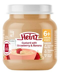 Heinz: Custard with Strawberry & Banana 110g (From 6+ Months)