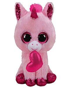 "Ty Beanie Boos: Darling - Unicorn Valentine (Medium) 13"""