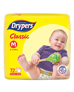 Drypers Classic M72 (6 - 11kg) - Family Pack