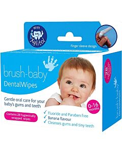 Brush Baby: Dental Wipes Finger Sleeve (28 pieces) - 16% OFF!!