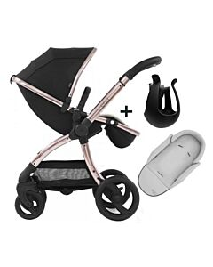 Egg® Stroller: Diamond Black On Rose Gold Chassis (SPECIAL EDITION) - 20% OFF!!