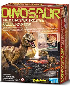 4M Kidz Labs | Dig a Dinosaur Skeleton - Velociraptor - 15% OFF!!