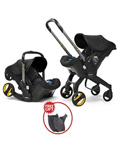 Doona Infant Car Seat Stroller *Model 2019* (FOC Snap On Storage Bag) - Nitro Black - 18% OFF!!