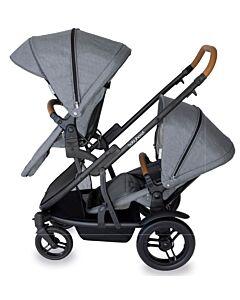 Babyhood: Doppio Inline Stroller (Double) - Nero - 10% OFF!!