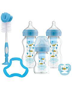 Dr. Brown's: Options+ Gift Set - Wide-Neck Bottle (Blue) [NEW VERSION] - 30% OFF!!