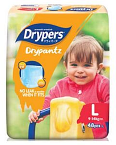 Drypers DryPantz L48 (9 - 14kg) - Mega Pack