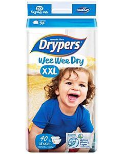 Drypers Wee Wee Dry XXL40 (15-25kg) - Mega Pack - 25% OFF!