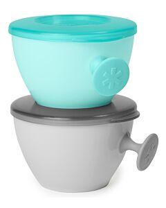 Skip Hop: Easy-Grab Bowls - Grey/Soft Teal - 17% OFF!!