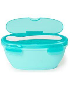 Skip Hop: Easy-Serve Travel Bowl & Spoon - Soft Teal - 15% OFF!!