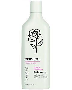 Ecostore Gentle & Nourishing Body Wash Rose & Geranium (400ml) - 48% OFF!!