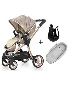 Egg® Stroller: Camo Sand On Gold Chassis (Special Edition) + (FREE GIFTS worth RM518: Baby Insert + Cup holder)