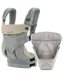 Ergobaby: Four Position 360 Collection: Bundle of Joy Grey with Grey Easy Snug Infant Insert - 25% OFF!