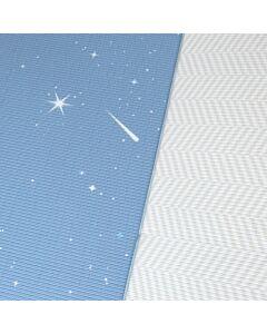 BAMBAM KIDS Petite Size Play Mat   Twilight Blue / Herringbone Gray (100 x 140cm)