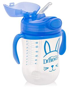 Dr. Brown's: Baby's First Straw Cup with Handles 10oz/270ml - Blue - 20% OFF!!