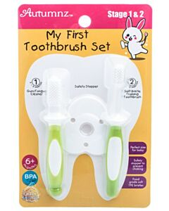 Autumnz: My First Toothbrush Set (Stage 1 & 2) | Green - 15% OFF!!
