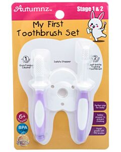 Autumnz: My First Toothbrush Set (Stage 1 & 2) | Lilac - 15% OFF!!