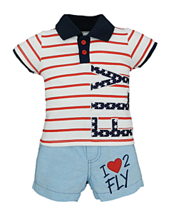 Wonder Child Collection: Flight Club - I Love 2 Fly (6 - 12 Mths) - 10% OFF!