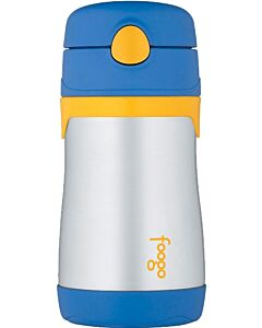 Thermos: Foogo: Vacuum Insulated Stainless Steel Leak-Proof Straw Bottle 300ml/10oz (Blue) - 25% OFF!!