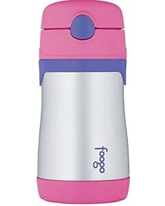 Thermos: Foogo: Vacuum Insulated Stainless Steel Leak-Proof Straw Bottle 300ml/10oz (Pink) - 25% OFF!!