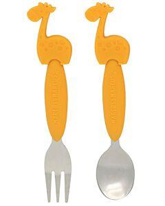 Marcus & Marcus | Fork & Spoon Set | Lola (Giraffe) - 10% OFF!!