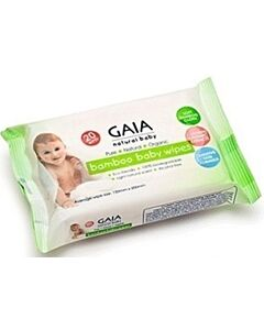 GAIA Bamboo Baby Wipes Pack of 20's - 25% OFF!!