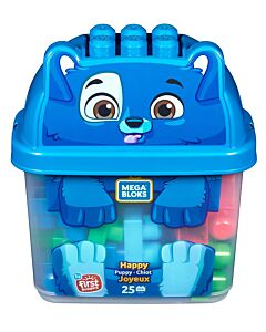 Mega Bloks: Build N' Learn First Builders 25pcs - Happy Puppy Joyeux - 10% OFF!!