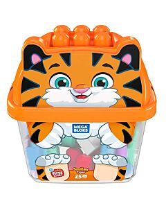 Mega Bloks: Build N' Learn First Builder 25pcs - Smiley Tiger Souriant - 10% OFF!!