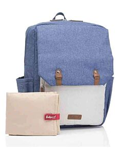 Babymel: George Backpack - Mid Blue/Oatmeal - 15% OFF!!