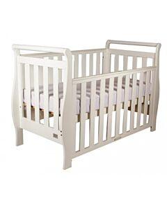 Babyhood Georgia Sleigh Cot (White) - 10% OFF!!
