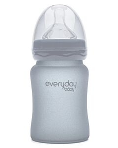 Everyday Baby Glass Baby Bottle (Shatter Protected) 150ml | Quiet Grey | 15% OFF!!