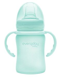 Everyday Baby Glass Sippy Cup (Shatter Protected) 150ml | Mint Green | - 15% OFF!!