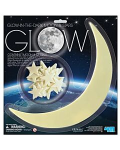 4M Glow In The Dark | Glow Moon (Large) & Stars - 15% OFF!!