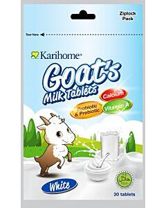 Karihome Goat's Milk Tablet (Probiotic & Prebiotic) 30 tablets | White (Original + Yoghurt Flavor) - 10% OFF!!