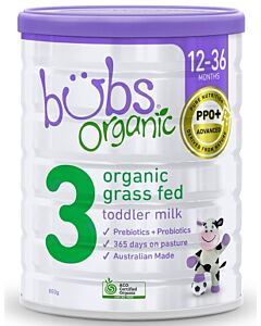 Bubs Organic Grass Fed Toddler Milk *Stage 3* (12-36 Months) 800gm